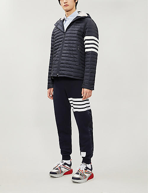 THOM BROWNE Padded shell and down-blend hooded jacket