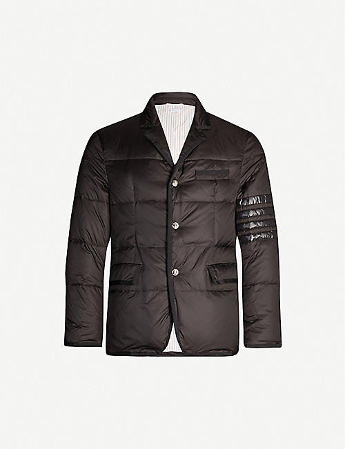 THOM BROWNE Single-breasted shell and down-blend blazer