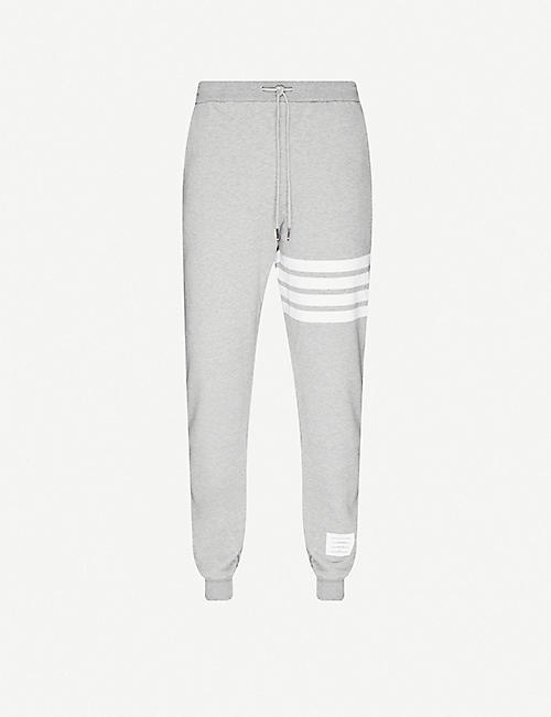 THOM BROWNE: Striped stretch-cotton tracksuit bottoms