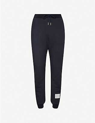 THOM BROWNE: Side-stripe stretch-cotton tracksuit bottoms