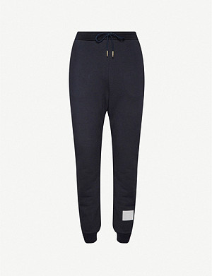 THOM BROWNE Side-stripe stretch-cotton tracksuit bottoms