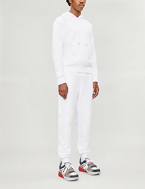 THOM BROWNE Side-stripe stretch-cotton jogging bottoms