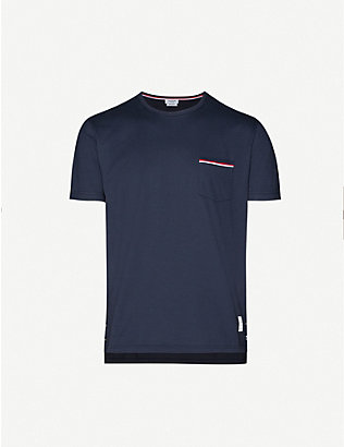 THOM BROWNE: Patch pocket cotton T-shirt