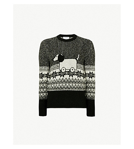 ac3a0d6622 THOM BROWNE - Hector Toy Icon wool and mohair-blend jumper ...