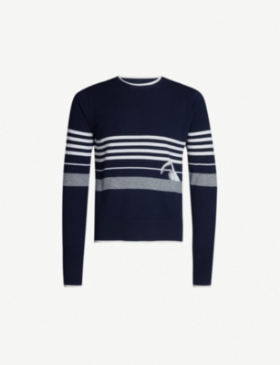 THOM BROWNE Patterned cashmere jumper