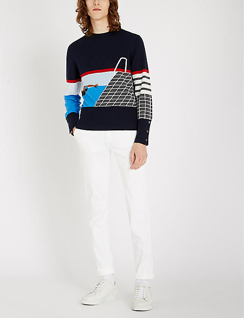 THOM BROWNE Swim cashmere jumper