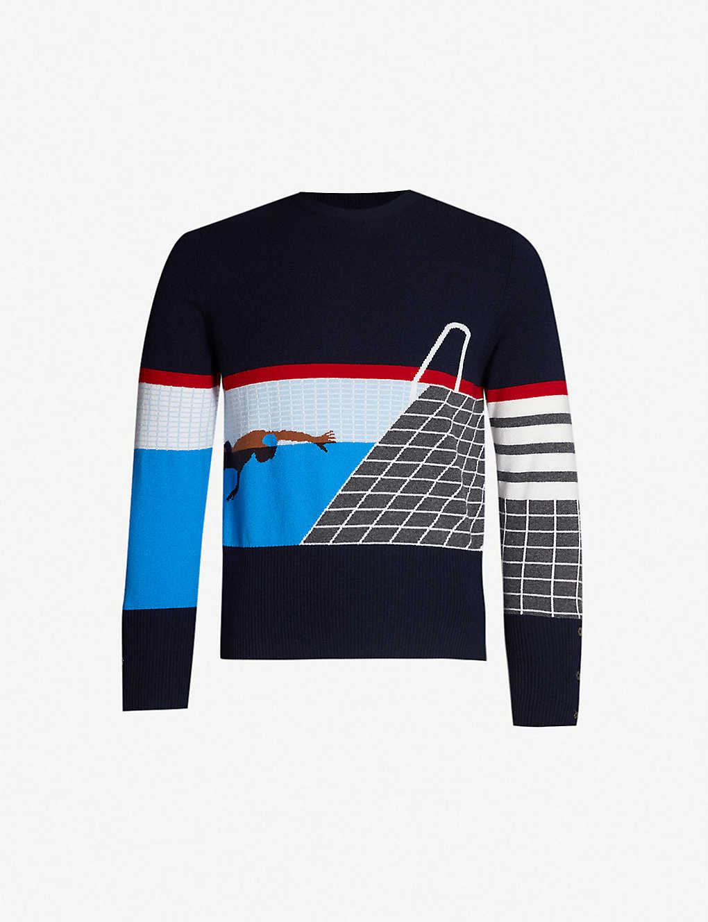 8af74b8e7c THOM BROWNE - Swim cashmere jumper | Selfridges.com