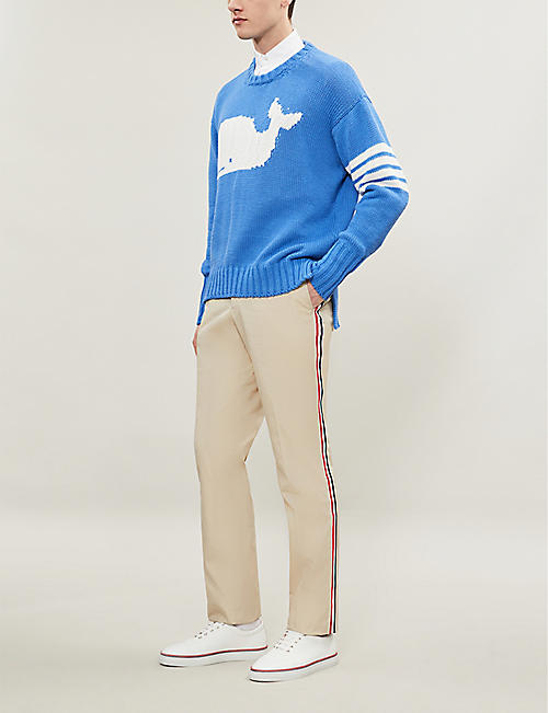 THOM BROWNE Whale knitted jumper