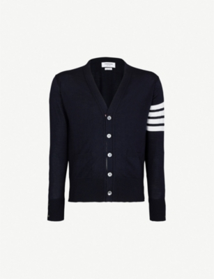 THOM BROWNE 4-bar wool cardigan