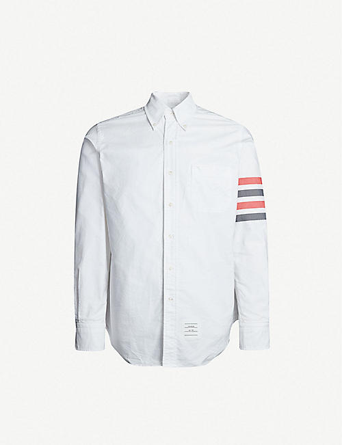 9e3e08a9dbfd THOM BROWNE Signature-stripe regular-fit cotton shirt