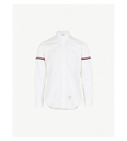 4c818976 THOM BROWNE Signature-stripe regular-fit cotton-twill poplin shirt (Off+
