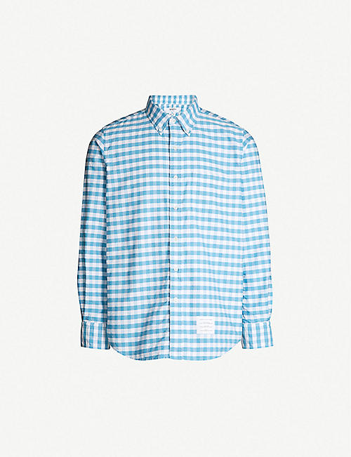 284bed072fa THOM BROWNE Gingham regular-fit cotton-twill shirt
