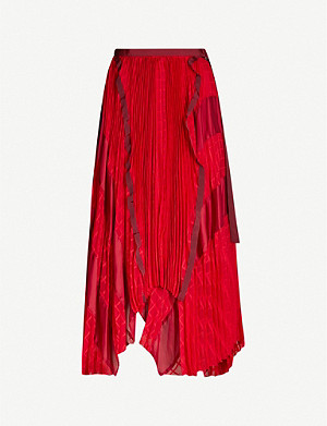 SACAI High-waist chiffon skirt