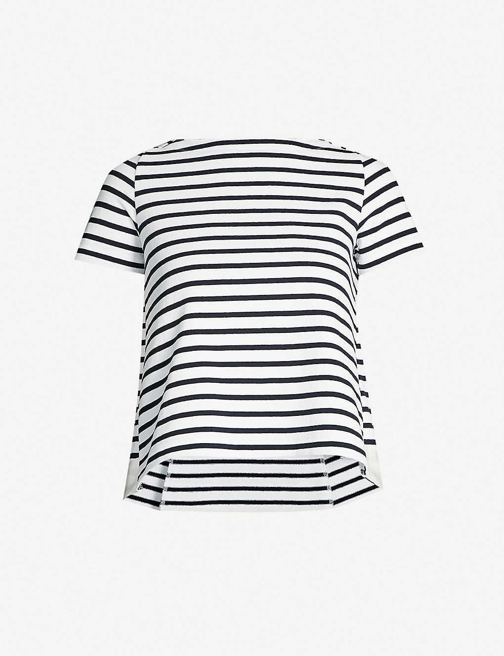 9d9b3cd3e0b Dixie striped cotton knitted T-shirt - Whitenavy ...