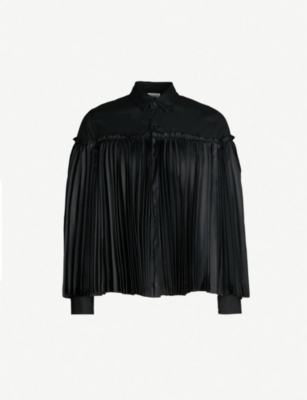 NOIR KEI NINOMIYA Pleated-panel cotton shirt