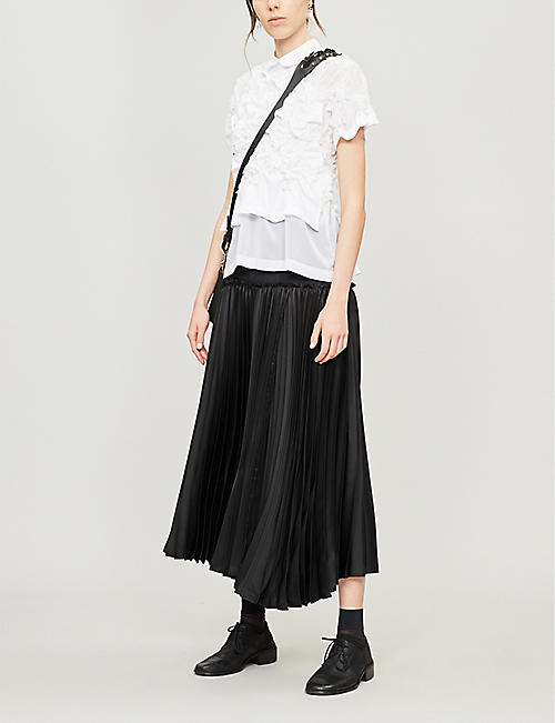 NOIR KEI NINOMIYA Peter Pan-collar textured cotton T-shirt