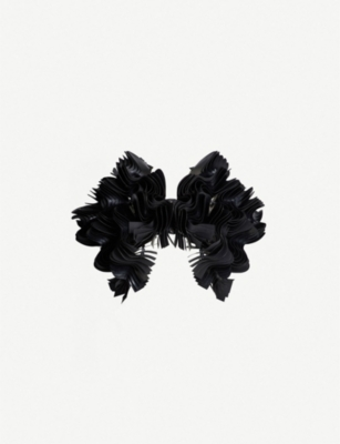 NOIR KEI NINOMIYA Bonded-ruffle faux-leather jacket