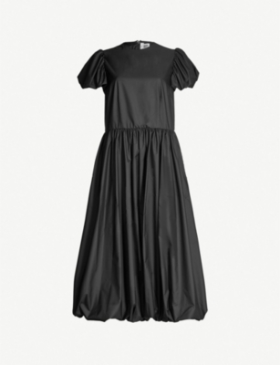 NOIR KEI NINOMIYA Puffed-hem crepe dress