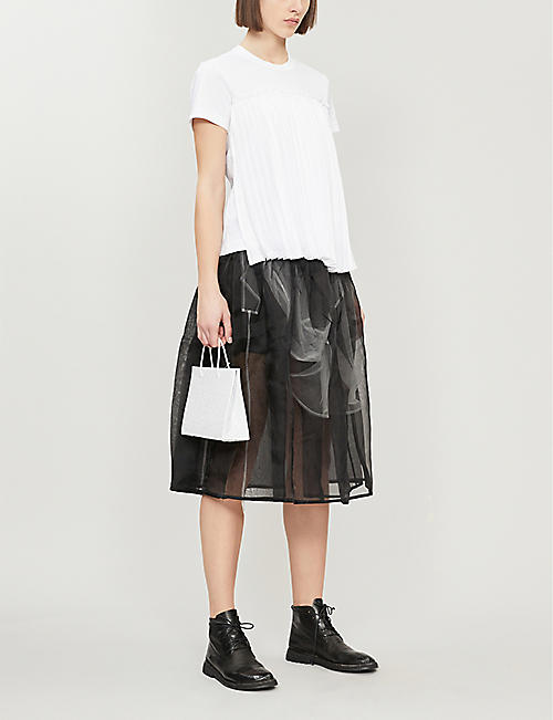 NOIR KEI NINOMIYA Pleated-front cotton T-shirt