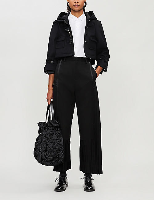 NOIR KEI NINOMIYA Drawstring-hem cotton shirt