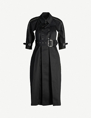 NOIR KEI NINOMIYA Harness-detail cut-out cotton coat