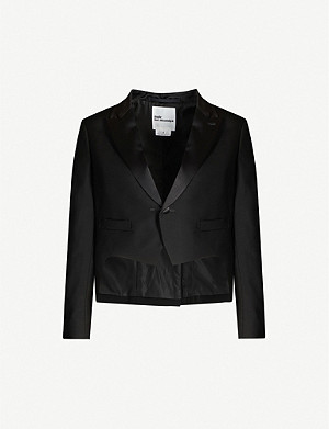 NOIR KEI NINOMIYA Cropped single-breasted wool-blend blazer