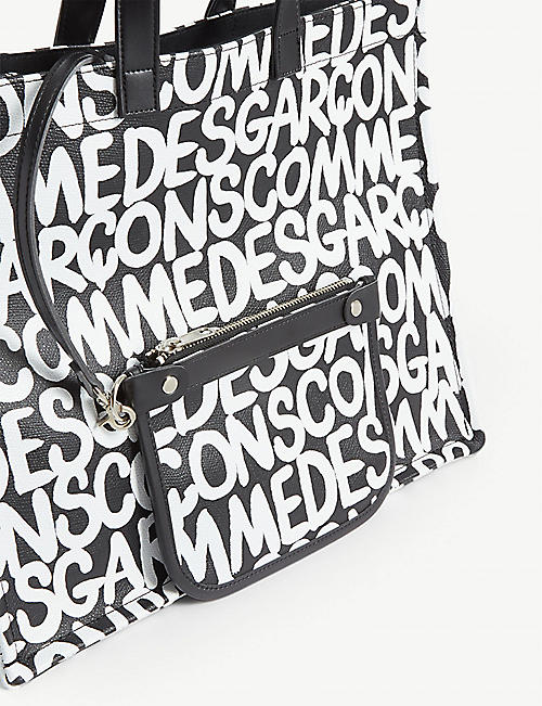 COMME DES GARCONS All-over logo tote
