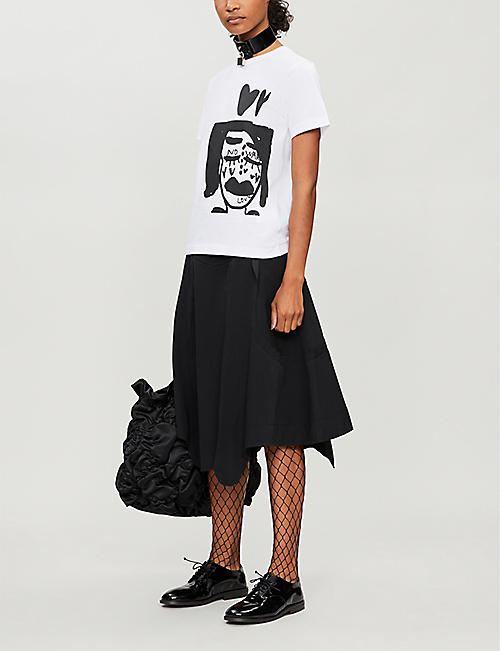 COMME DES GARCONS Graphic-print cotton-jersey T-shirt