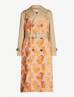 JUNYA WATANABE Floral jacquard cotton-blend trench coat