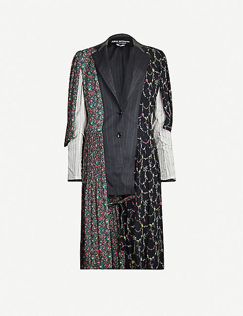 JUNYA WATANABE Patchwork wool and crepe coat