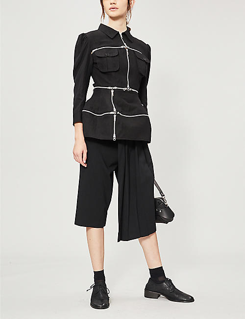 YOHJI YAMAMOTO Zipped linen and cotton-blend jacket