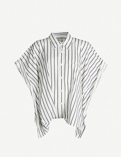 LIMI FEU Oversized striped cotton shirt