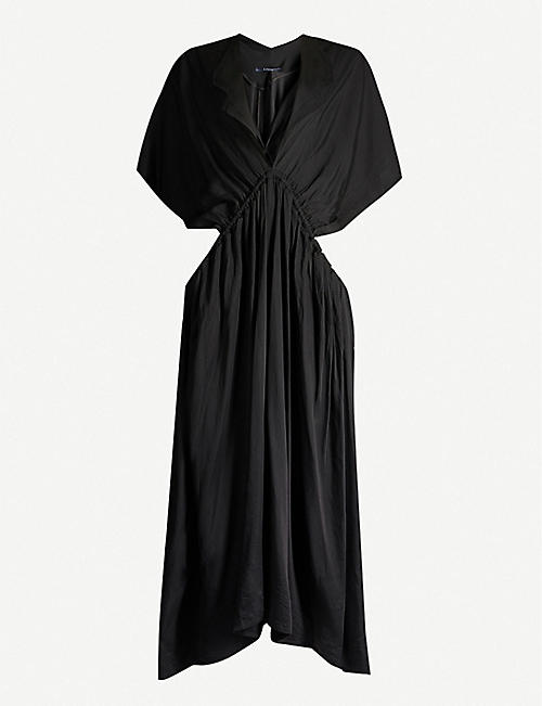 LIMI FEU Cutout-side crepe maxi dress