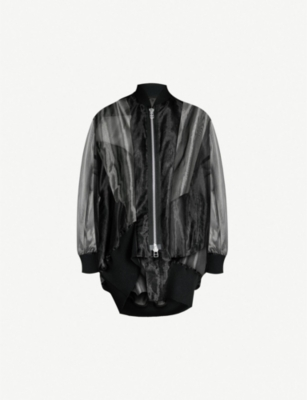 LIMI FEU Zipped sheer organza jacket