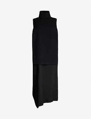 YS Turtleneck knitted and woven dress