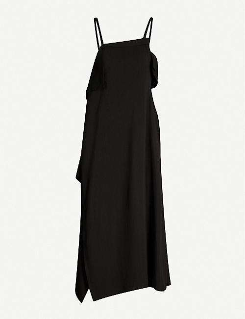 YS Asymmetric-hem woven dress