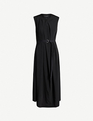YS Asymmetric-pleated woven dress