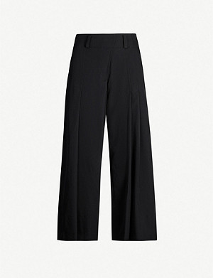 YS Pleated wide-leg woven trousers