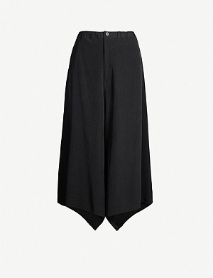 YS Flared wide-leg woven trousers