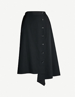 YS High-waist A-line wool skirt