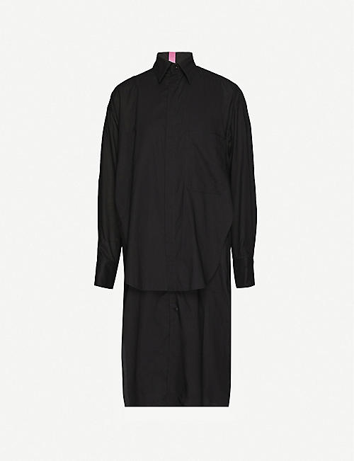 YS Layered cotton-jersey shirt dress