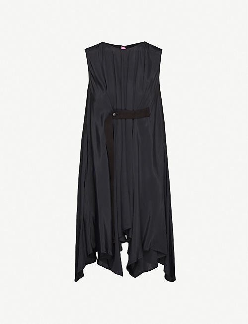 YS Gathered sleeveless rayon top