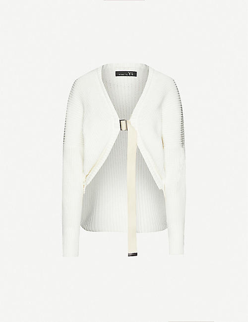 YS Ribbed cotton-knit cardigan