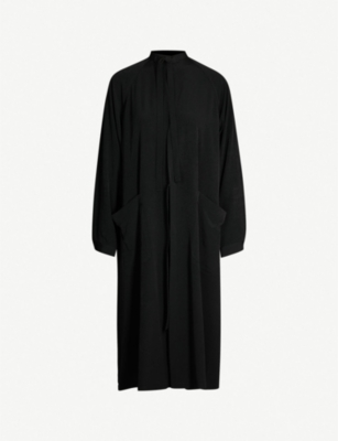 YS Relaxed-fit tie-up woven coat