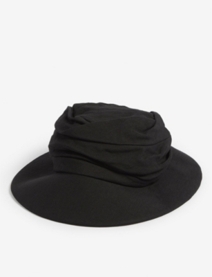 YS Layered linen hat