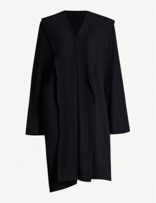 YS Structured collar cotton-blend jersey robe