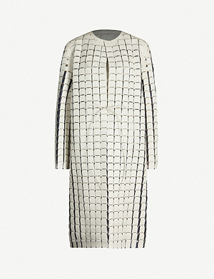 BOTTEGA VENETA Cut-out faux-leather coat