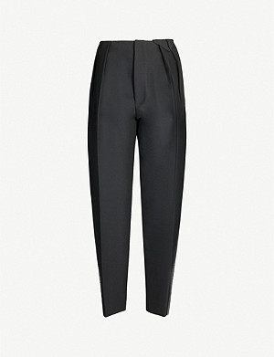 BOTTEGA VENETA Scuba tapered cropped wool-blend trousers