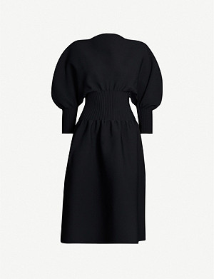BOTTEGA VENETA Balloon-sleeve stretch-jersey midi dress