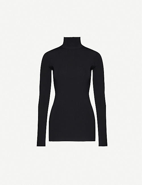 BOTTEGA VENETA Funnel-neck stretch-ponté top